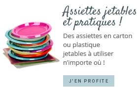 Assiettes jetables