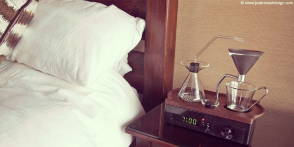 Un réveil qui fait le café