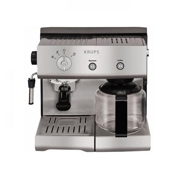 machine à café krups combinée inox yy8203fd