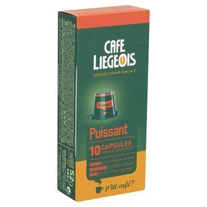 10 capsules compatible nespresso® puissant - café liegeois