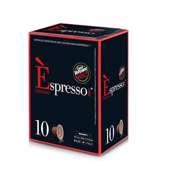 capsules espresso cremoso nespresso® compatibles caffè vergnano x 10