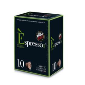 capsules nespresso® compatibles espresso lungo intenso caffè vergnano x 10