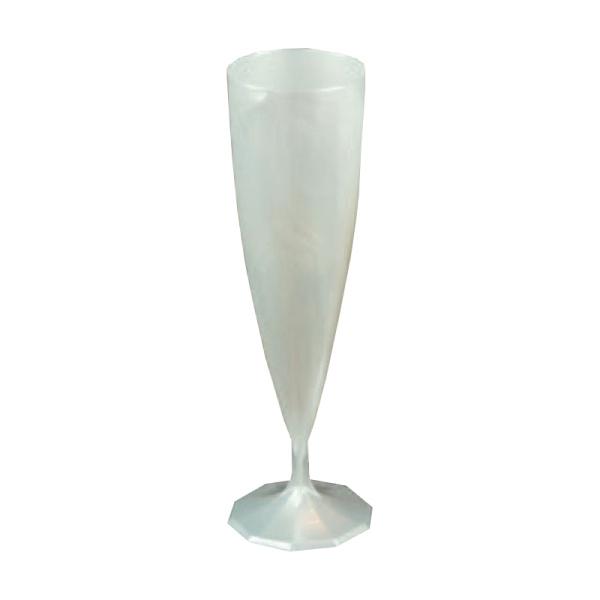 flûte à champagne monobloc de luxe design blanc nacré (13 cl) x 10