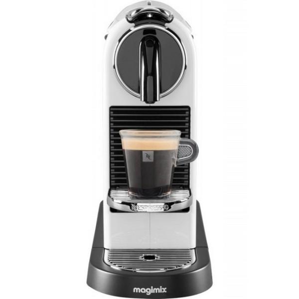 cafetière nespresso magimix citiz blanche laquée