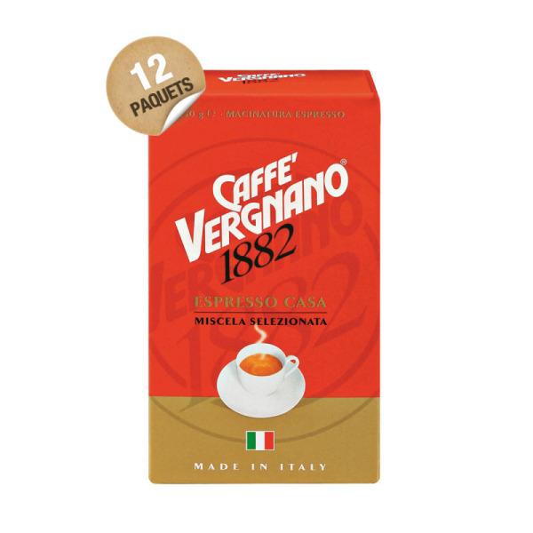 café moulu espresso casa caffè vergnano - 12 x 250 g
