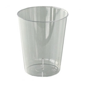 verre en plastique rigide transparent (20 cl) x 20