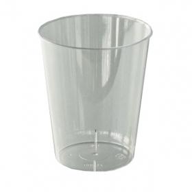 verre en plastique rigide transparent (20 cl) x 20