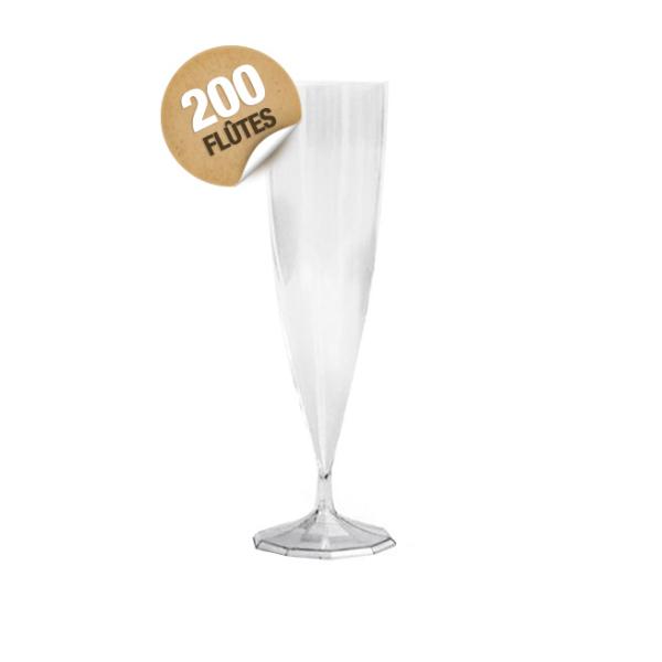 flûte à champagne monobloc de luxe design cristal 13 cl x 200