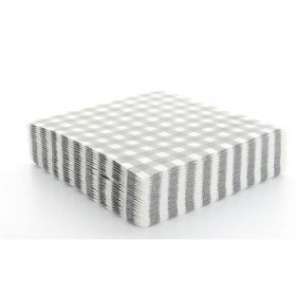 20 serviettes vichy - gris
