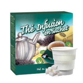 boisson pré-dosée thé infusion en sachet sucré x 300