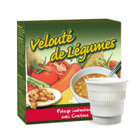 boisson pré-dosée potage légumes avec croûtons x 20