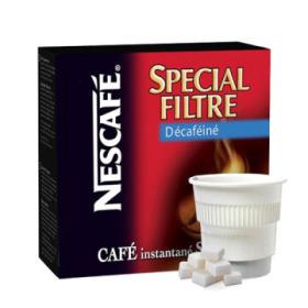 boisson pré-dosée nescafé filtre décaféiné sucré x 20