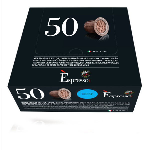 capsules nespresso® compatibles espresso deca caffè vergnano x 50