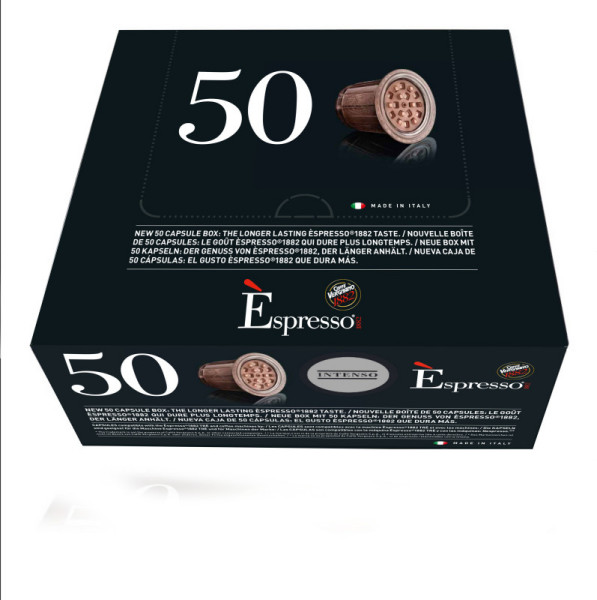 capsules espresso intenso nespresso® compatibles caffè vergnano x 50