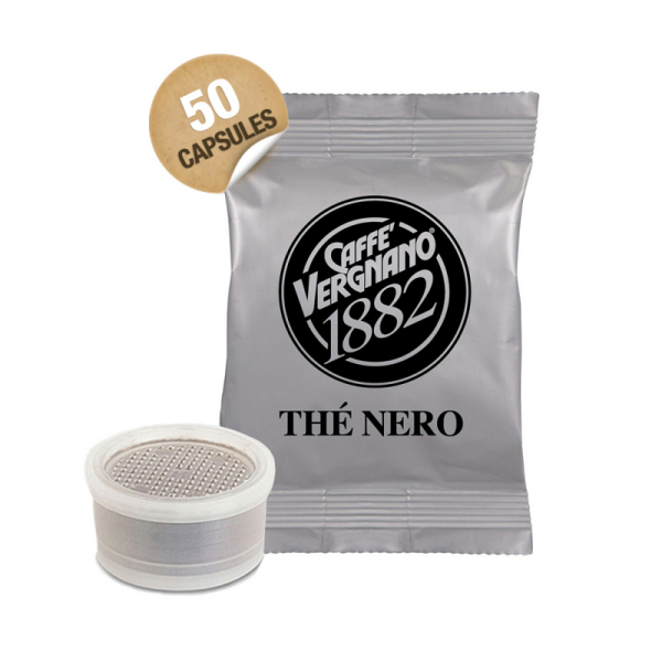 capsules lavazza espresso point thé noir caffè vergnano x 50