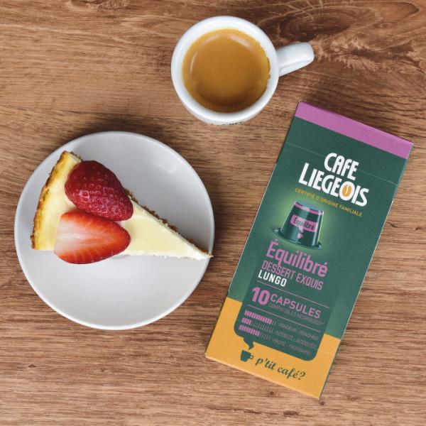10 capsules compatible nespresso® equilibre - café liegeois