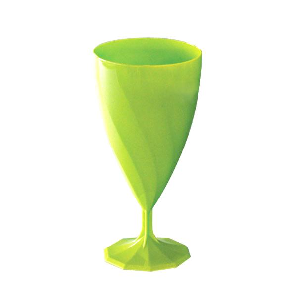verre à eau jetable design vert anis x 6