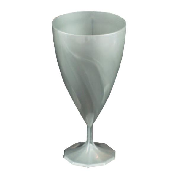 verre à eau jetable design argent x 6