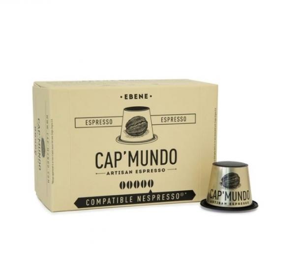 10 capsules nespresso® compatibles ebene corsé cap'mundo