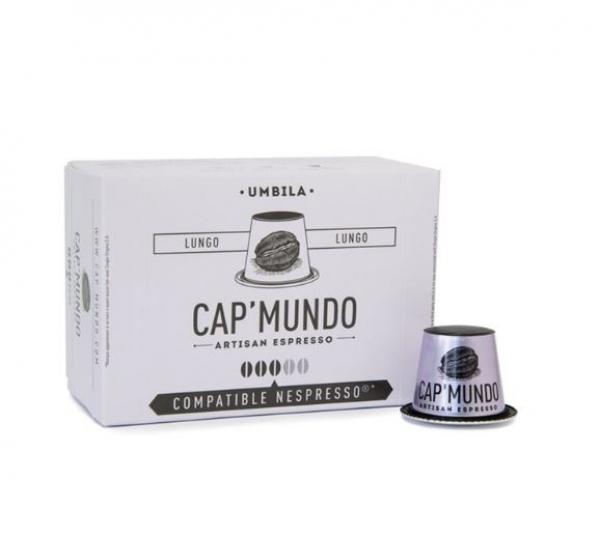 10 capsules nespresso® compatibles umbila lungo cap'mundo