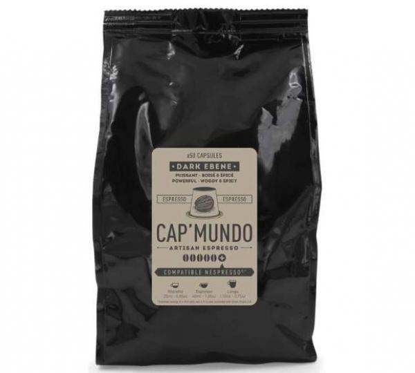 50 capsules nespresso® compatibles dark ebene cap'mundo