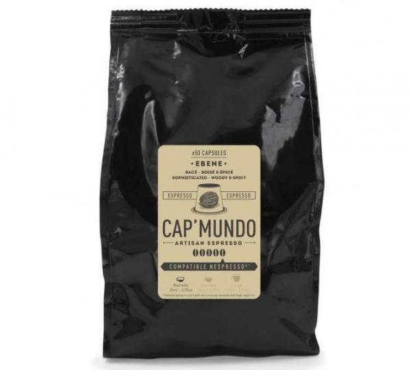 50 capsules nespresso® compatibles ebene cap'mundo