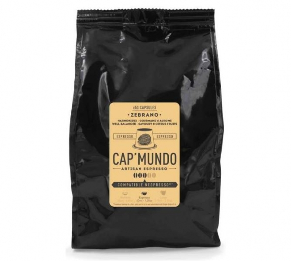50 capsules nespresso® compatibles zebrano cap'mundo