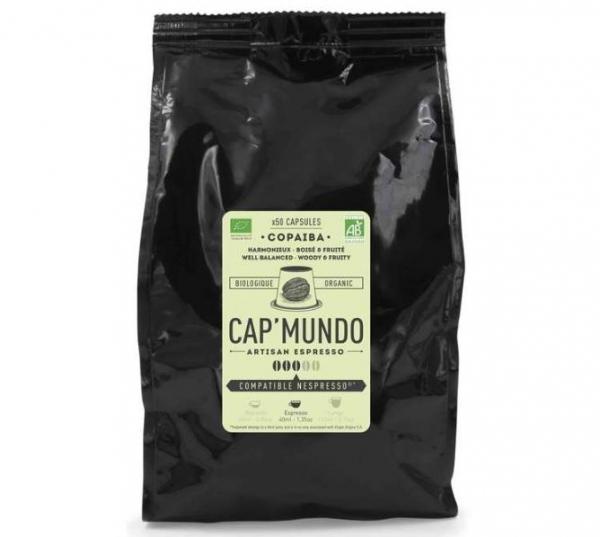 50 capsules nespresso® compatibles copaiba bio cap'mundo