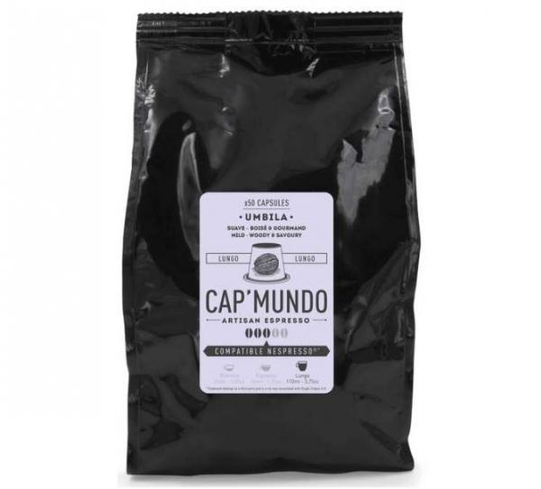 50 capsules nespresso® compatibles umbila lungo cap'mundo