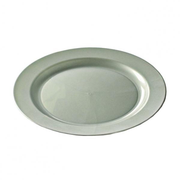 assiette ronde plastique argent prestige (19 cm) x 96