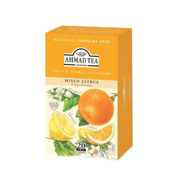 sachets d'infusion ahmad tea mélange d'agrumes  x 20 dluo depassee