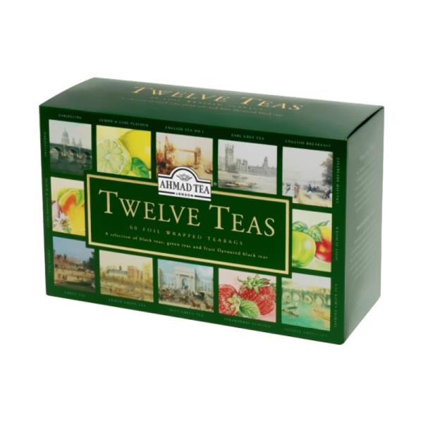 coffret sachets de thé twelve teas ahmad tea x 60