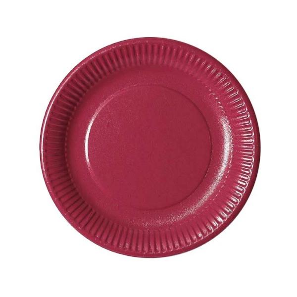 assiette en carton bordeaux (23 cm) x 20