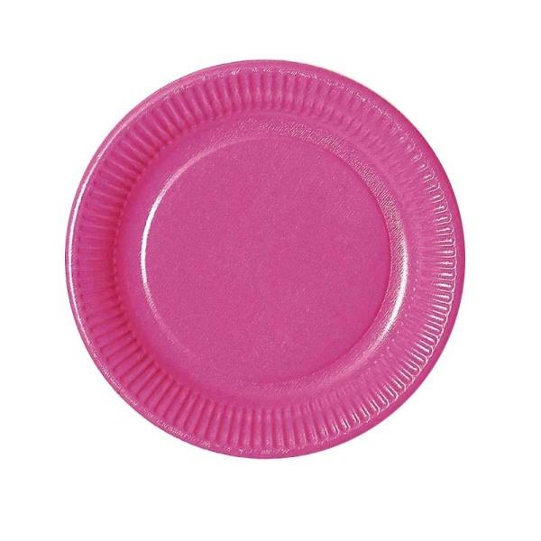 assiette en carton fuchsia (23 cm) x 20