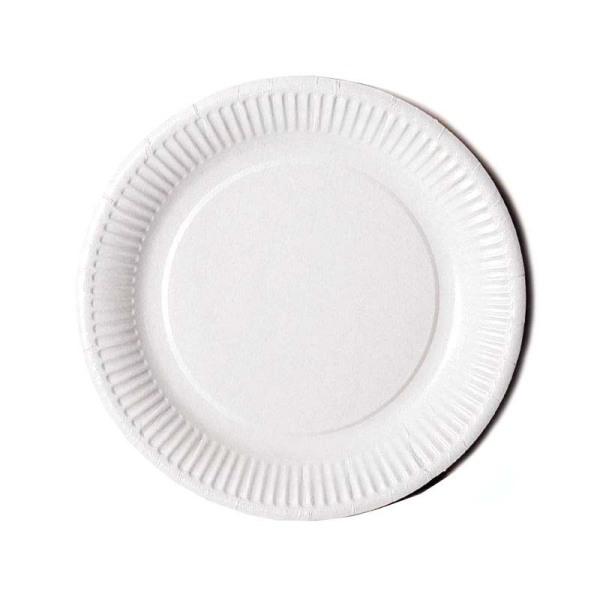 assiette en carton blanc (23 cm) x 50