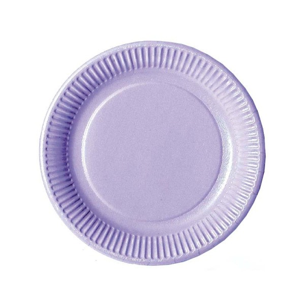 assiette en carton parme (23 cm) x 20