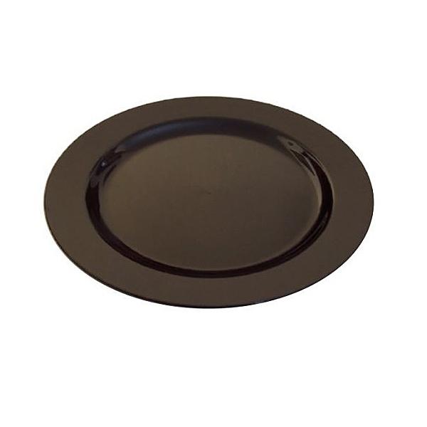 200 assiettes en plastique rigide noir 19 cm