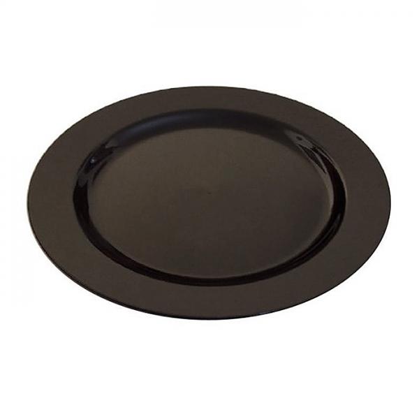 assiette en plastique rigide noir (23 cm) x 200
