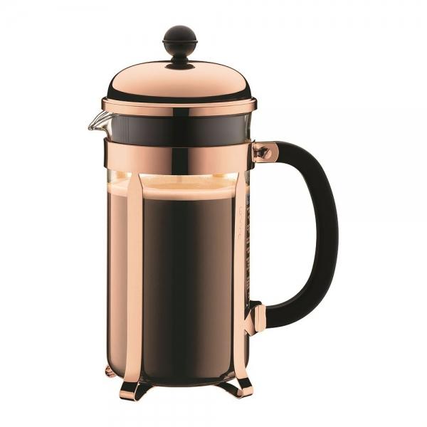 cafetière à piston chambord bodum® 8 tasses 1 l cuivre