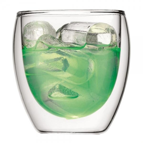 set 2 verres pavina bodum® double paroi 25 cl