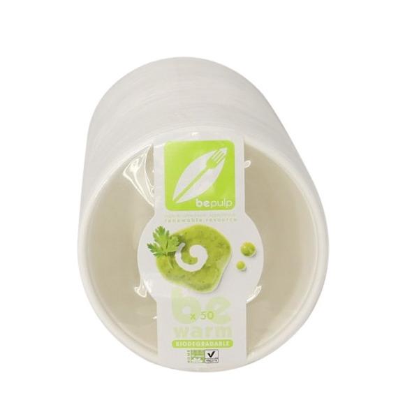 50 bols à soupe biodégradables 400 ml