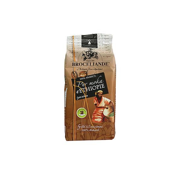 café moulu brocéliande pur moka d'ethiopie 100% arabica - 1x 250g