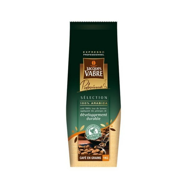 café en grain bio rainforest alliance jacques vabre - 1 kg