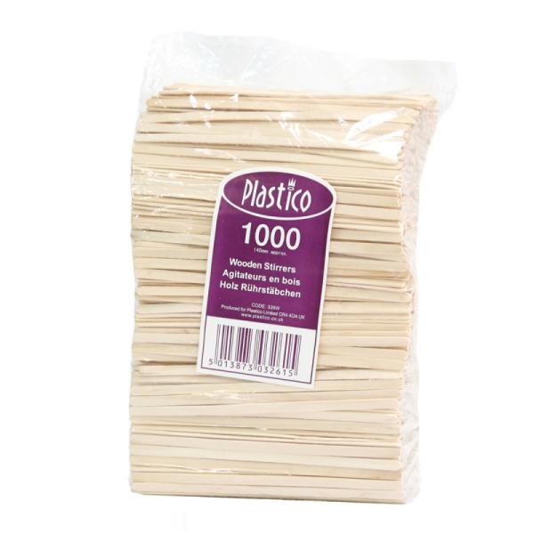 agitateur en bois jetable x 1000