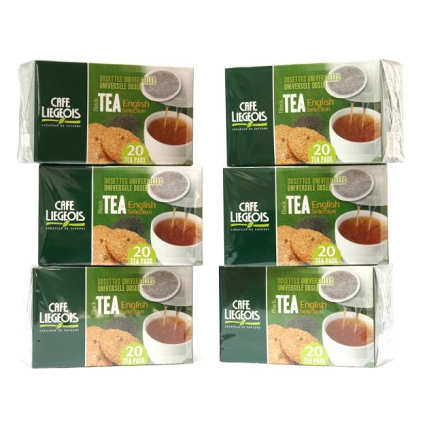 dosettes pour senseo® thé noir english selection café liégeois x 120