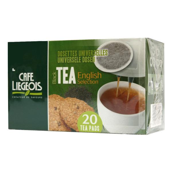 dosettes pour senseo® thé noir english selection café liégeois x 20