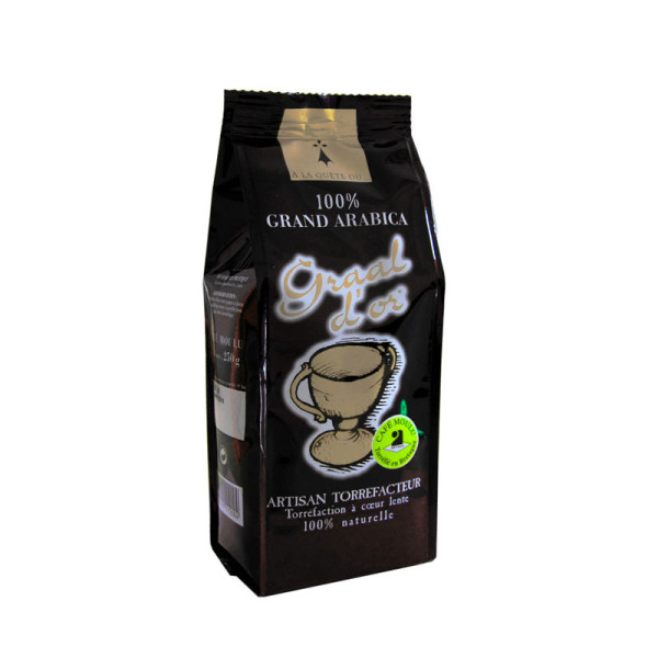café moulu graal d'or 100% arabica brocéliande - 125 g