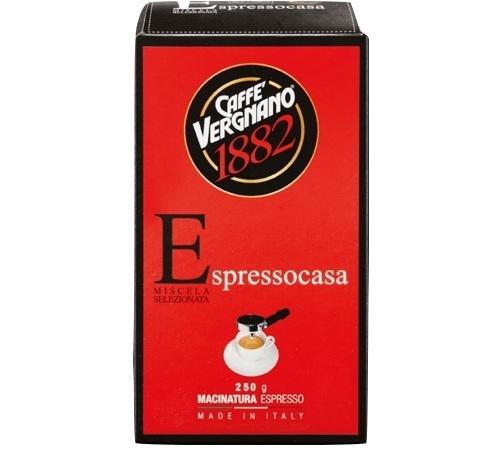 café moulu espresso casa miscela caffè vergnano- 250 g