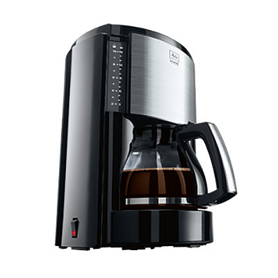 cafetière à filtre look selection acier brossé noir
