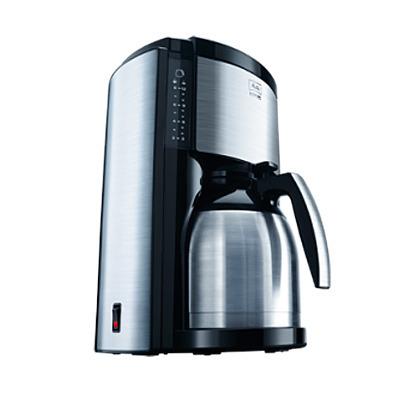 cafetière à filtre look therm deluxe acier brossé noir